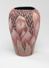Budding Waratah - layered stained porcelain handcarved height 18cm