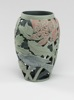 Waratah and Wattlebird - layered stained porcelain handcarved