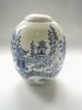 Willow Landscape - porcelain with hand painted cobalt 18 x 11 x 11cm